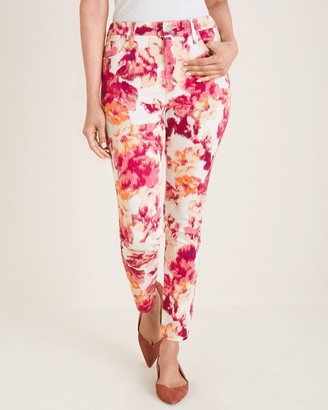 So Slimming Floral Girlfriend Ankle Jeans