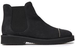 Giuseppe Zanotti Hilary Zip-embellished Textured-nubuck Ankle Boots