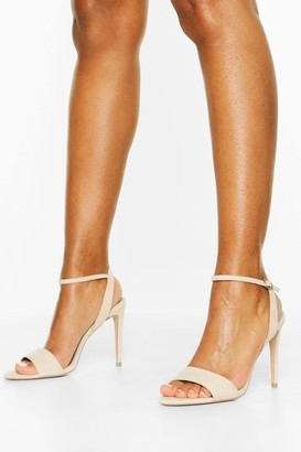 boohoo Strappy Stiletto Barely There Heels