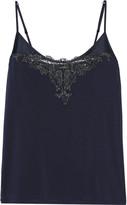 La Perla Primula metallic lace-trimmed stretch-modal camisole
