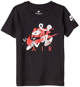 Nike Kids Short Sleeve Character Logo Graphic T-Shirt (Little Kids) (Black) Boy's Clothing