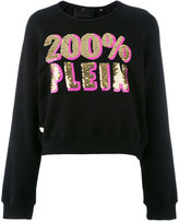 Philipp Plein logo sweatshirt - women - Cotton - S