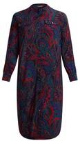 Thumbnail for your product : Lauren Woman Ralph Lauren Paisley Belted Jersey Shirtdress