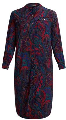 Lauren Woman Ralph Lauren Paisley Belted Jersey Shirtdress