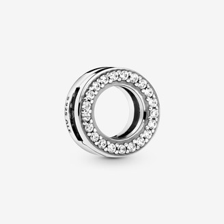 Pandora Circle of Pave Clip Charm