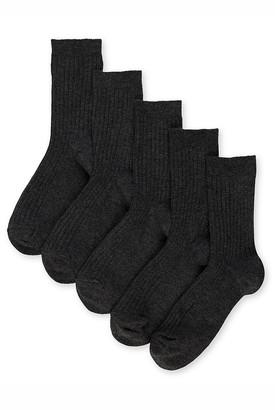 Marks and Spencer 5pk of Ribbed School Socks