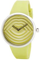 Lulu Guinness Lime Quilted Face Watch women's quartz Watch with green Dial analogue Display and green silicone Strap 0.95.0609