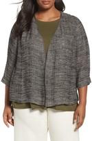 Eileen Fisher Plus Size Women's Organic Linen Blend Kimono Jacket