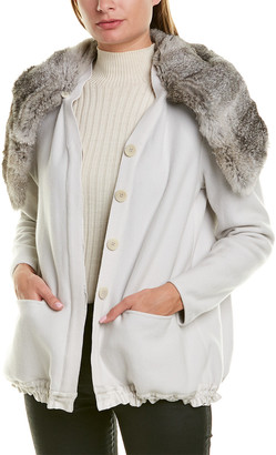 Giorgio Armani Blouson Wool & Silk-Blend Jacket