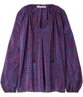 Elizabeth and James Chance Printed Silk Crepe De Chine Blouse