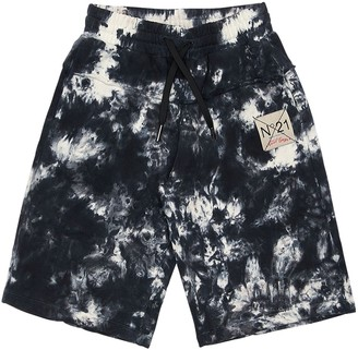 N°21 Tie Dyed Cotton Sweat Shorts