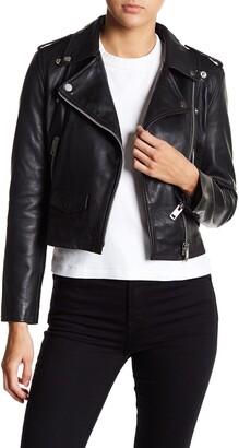 Walter Baker Liz Leather Crop Moto Jacket