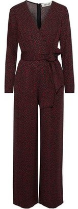 Diane von Furstenberg Edith Wrap-effect Printed Stretch-jersey Jumpsuit