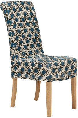 OKA Upolu Linen Slip Cover For Echo Dining Chair - Blue