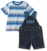 Calvin Klein Two-Piece Striped Tee and Shortall Set