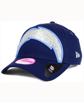 New Era Women's San Diego Chargers Glitter Glam 2.0 9FORTY Cap