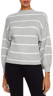 Line & Dot Line + Dot Alder Balloon-Sleeve Striped Sweater