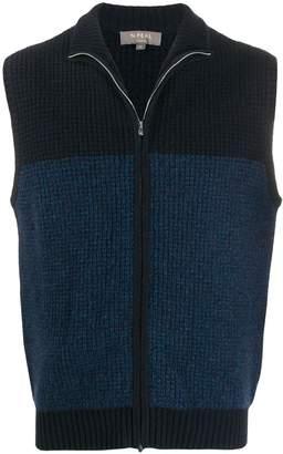 N.Peal zipped knitted waistcoat