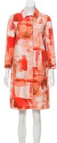 Piazza Sempione Abstract Print Collared Coat w/ Tags