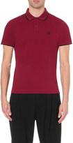 McQ by Alexander McQueen Tipped cotton-piqué polo shirt
