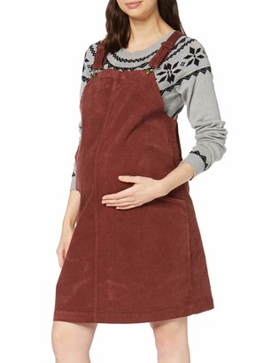 Mama Licious Mamalicious Women's Mlnassau Corduroy Pinafore Abk Dress