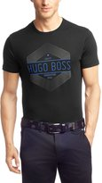 HUGO BOSS BOSS 'Tee 1' Cotton T-shirt with Logo Print By Boss Green - 50271093-001 (L)