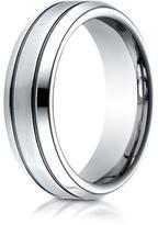 Ice Cobalt 7.0mm Comfort-Fit Satin-Finished Blackened Design Ring