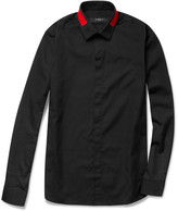 Givenchy Collar-Detail Cotton-Blend Shirt