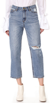 EVIDNT Distressed Straight Jeans