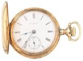Elgin 14K Yellow Gold 15-Jewel Double Hunter Pocket Watch
