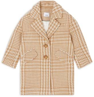 Burberry Kids Houndstooth Wool Coat (3-14 years)