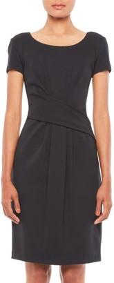 Emporio Armani Cap-Sleeve Twist Dress