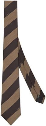 Fendi Pequin Stripe Silk Tie