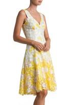 Dress the Population Women's Karen Mesh Fit & Flare Dress