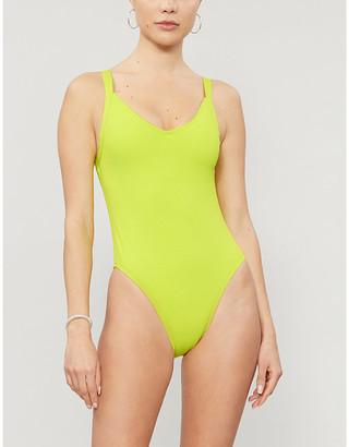 Roxy Sister Collection Hailey Bieber x Kelia Moniz picot-trim high-leg swimsuit