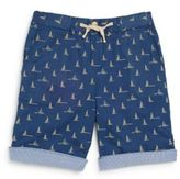 Scotch Shrunk Little Boy's & Boy's Reversible Boat-Print Cotton Shorts