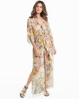 White House Black Market Long Floral Print Kimono Coverup