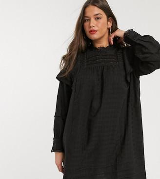 Vero Moda Curve textured smock in black