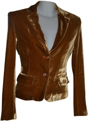Gianfranco Ferre Brown Velvet Jackets