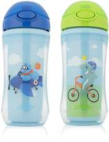 Dr Browns Dr. Brown's On-The-Go 2 Piece Straw Sport Cup for Boy, Blue, 10 Ounce