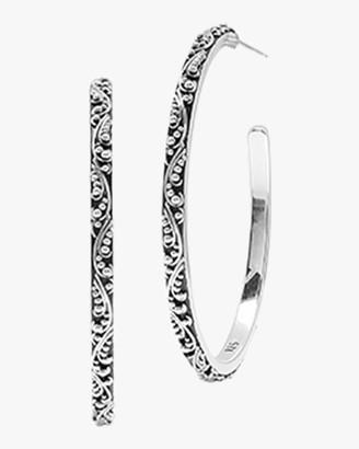 Lois Hill Classic Medium Granulated Hoop Earrings
