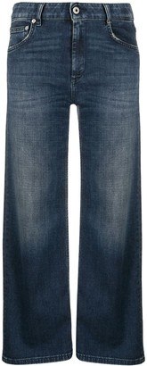 Dondup Cropped Wide Leg Jeans
