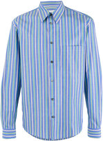 Stella McCartney Pyjama striped shirt - men - Cotton - 39