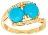 Lord & Taylor Diamond, Turquoise & 14K Yellow-Gold Ring