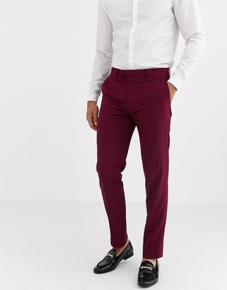 Harry Brown skinny fit stretch plain suit pants