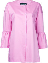 Moschino peplum sleeve coat - women - Cotton/Other fibres - 42