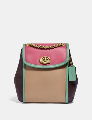 Coach Parker Convertible Backpack 16 In Colorblock