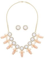 Charlotte Russe Faceted Stone Earrings & Necklace Set