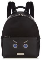 Fendi No Words Leather-trimmed Backpack