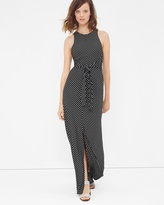 White House Black Market Tie-Front Stripe Maxi Dress